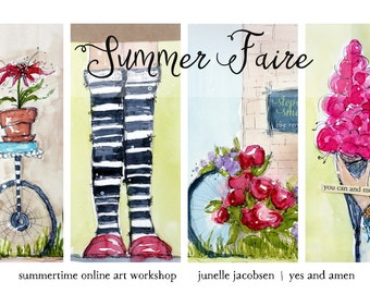 Summer Faire Online Art Workshop - Mixed Media and Watercolors