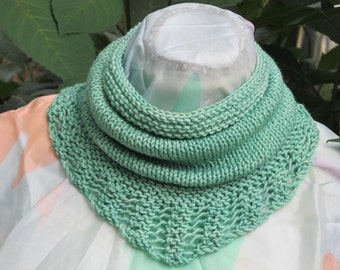 Bridger Cowl Scarf, neckwarmer,cowl,neck scarf,lace edged cowl