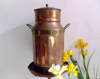 Milk Churn Vintage French copper milk container Genuine French dairy farm milk churn & milk jug
