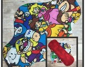 """9"""" Flannel Mario Cloth Menstrual Pad - Mama Cloth"""