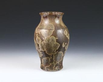Crystalline Maroon Brown Vase #1102