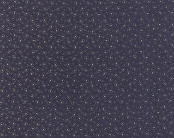 Polka Dots and Paisleys Mini Paisley Deep Blue - 1/2yd