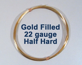 Gold Filled Wire - 22ga HH Half Hard - Choose Your Length