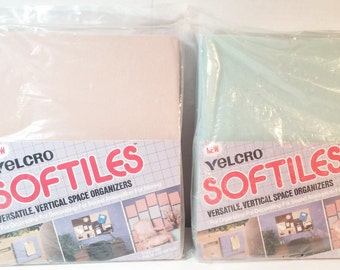 Vintage Velcro Bulletin Board Softiles Soft Tiles Office Wall Decor Bulletin Message Board