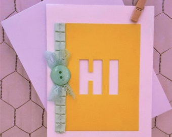 Hi! Just Because Blank Card Set