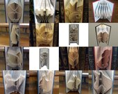 Book Folding Pattern Collection 4: 16 folded book art designs