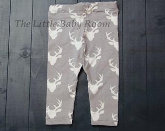 Boys Leggings,Deer Leggings,Baby Boy Leggings,Infant Deer Pants,Boy Gift,Deer Baby Boy,Hunting,Newborn,Buck,Gray,Navy,Baby Boy,Antler,0-3