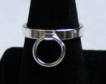 Heavyweight Sterling Silver Ring of O, BDSM Ring, Story of 'O' Ring. Fully UK hallmarked. 3 mm Slave ring. Sizes I to P  (US 4 1/2 - 7 1/2)