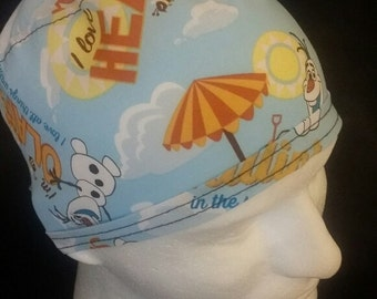 Disney's Frozen Olaf the Snowman Tie Back Surgical Scrub Hat