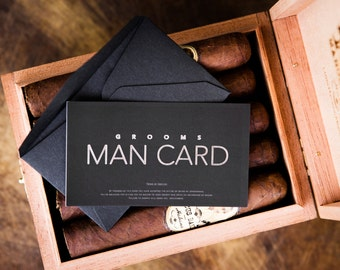 Will you be my Groomsman? FUNNY Groomsman Proposal - The MAN CARD