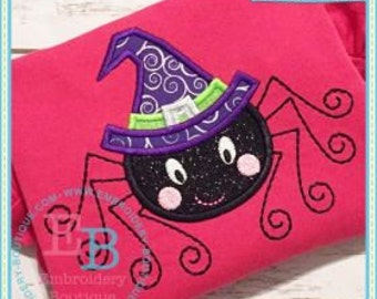 Personalized Halloween Spider Applique Shirt or Onesie for Boy or Girl
