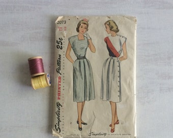 Old Sewing Pattern for Dress from 1940s