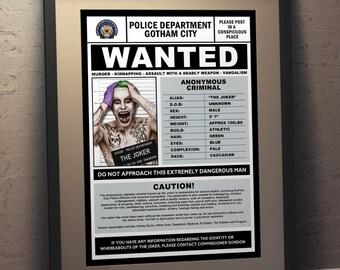 The Joker Fan Art Wanted Poster - Newspaper