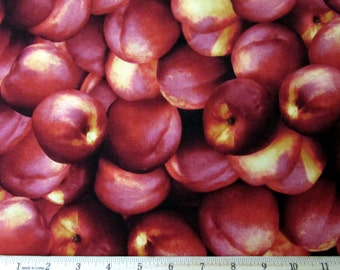Farmers Market Fruit Nectarines Fabric From RJR