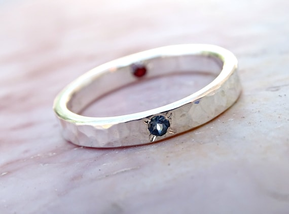 Alternative Silver Wedding Gifts : silver wedding ring gemstone, alternative engagement ring silver, ring ...