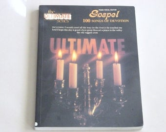 Gospel Song of Devotion Vintage Songbook, The Ultimate Series, Piano Voice Guitar, Song Lyrics, Hymnal Gospel.