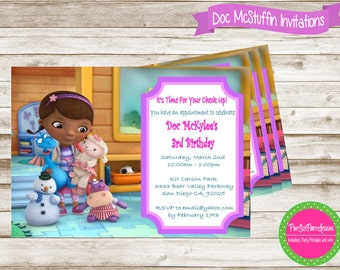 Doc McStuffins Birthdya Invitation- Doc Mcstuffin Birthday Party