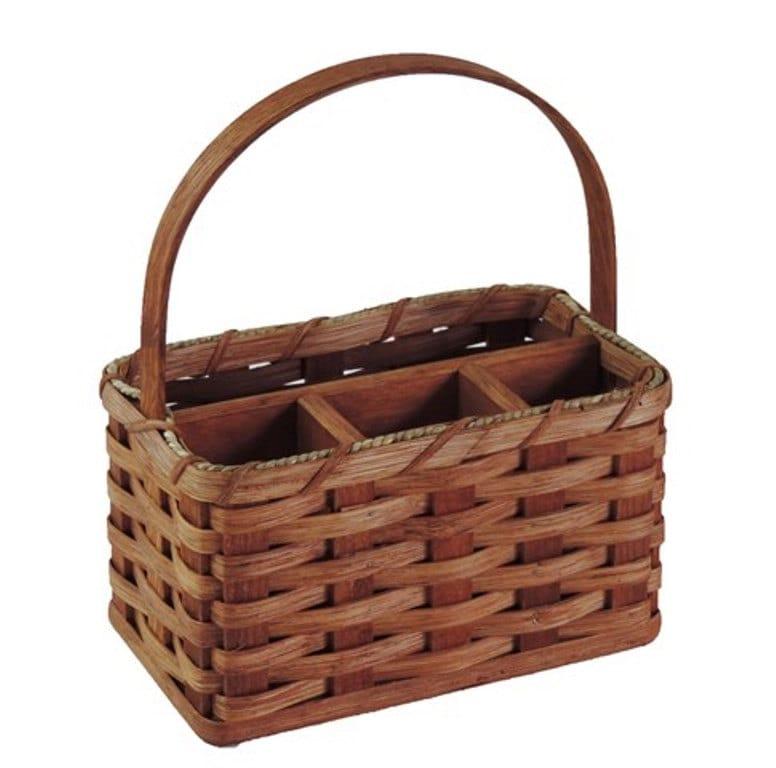 Handmade Small Baskets : Amish handmade small organizer basket w reed handle
