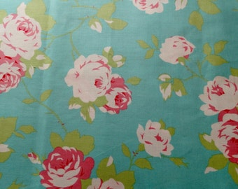 Shabby Chic Tanya Whelan Rose  Vine in Green Fabric by the Yard