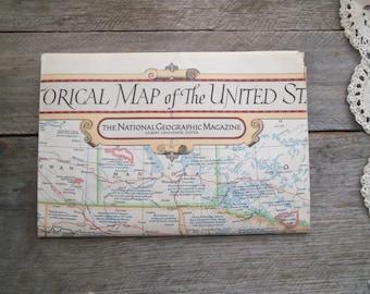 Vintage National Geographic U.S. Historical Map