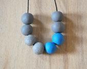 Handmade Originals Polymer Clay Necklace - Blue and Greys