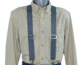 Dark Gray Nylon Suspenders