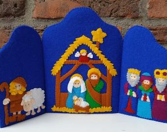 Kerststaldrieluik - Engels patroon