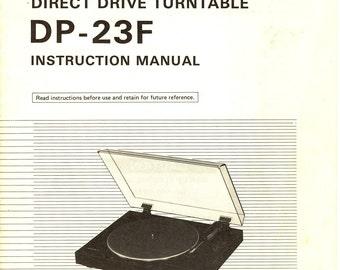 Denon DP-23F Turntable Service Manual