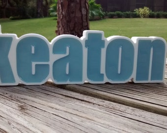 Custom Kids Name,Nursery Letters, Personalized Birthday Favors, Gifts. Nursery Names, Photo Props, Desk Name Plate