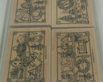 Stampin Up Seasonal Shelves Stamp Set (retired)