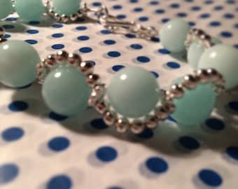 Aqua wave bracelet
