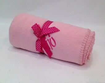 Phi Mu Pink Fleece Blanket