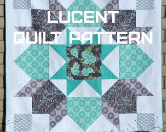 Lucent, a PDF modern quilt pattern by Quilting Jetgirl