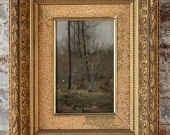 Fall Trees scene -Exquisite Impressionist oil painting c.1900s