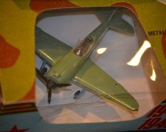 Russian Model WWII Fighter Plane, Metal