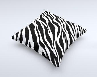 Simple Vector Zebra Animal Print ink-Fuzed Decorative Throw Pillow
