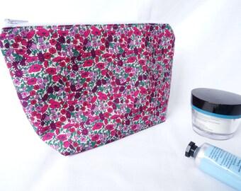Liberty floral makeup bag, Liberty floral cosmetic bag, Liberty makeup pouch, floral makeup bag, Liberty of London,  mothers day gift
