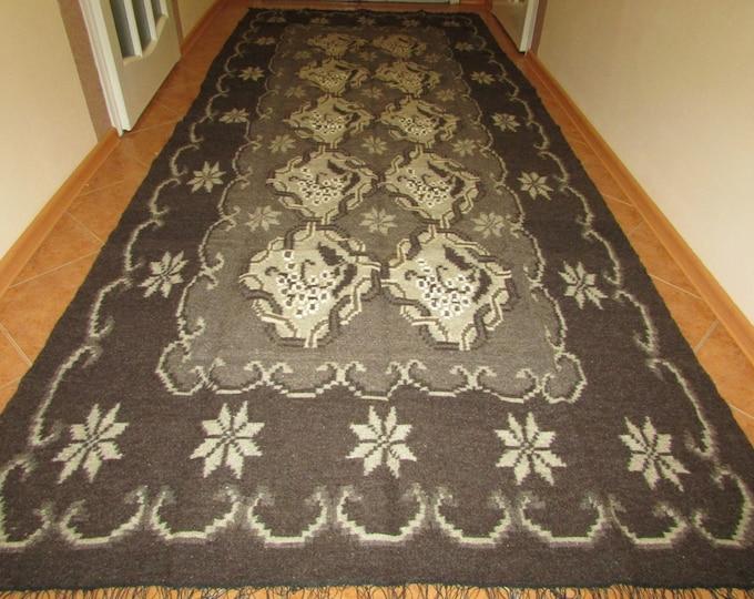 Bessarabian Kilim. Vintage Moldovan Kilim, Handmade 50-60 years old, handmade Floral Rugs Carpets .Eco-Friendly