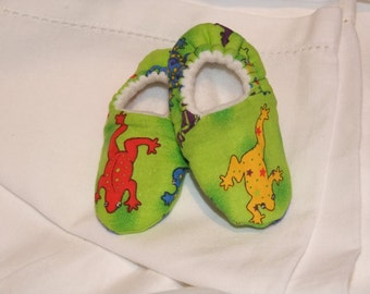 Reversible Frog Baby Slippers