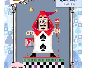 Brooke's Books Wonderland Royal Gardener Cross Stitch Chart-Only (Instant Download)