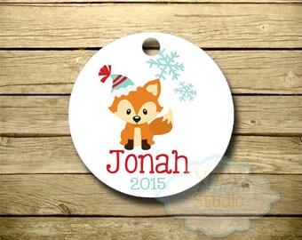 Personalized Christmas Ornament - Keepsake -  Christmas Tree - Holiday - Fox - 030