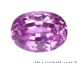 A Beautiful NaturalSapphire 1.01 Purple Oval AA