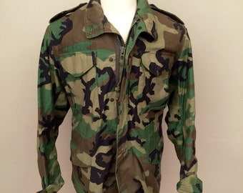 Military issue,  camouflage field jacket