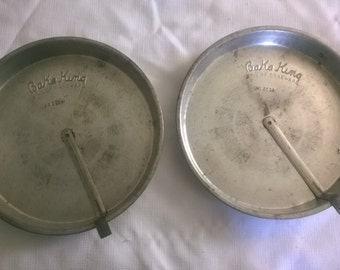 Vintage Bake King Sliders Cake Pans-No. 2009-Lot of 2 Cake Pans