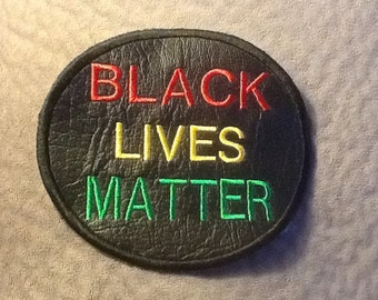 Black Lives Matter Black Patch Iron On or Sew On 4 inches in size