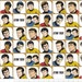 Star Trek Galaxy Pop Fabric Characters in Blocks in White 100% Cotton by Camelot Cottons  - Crew Members