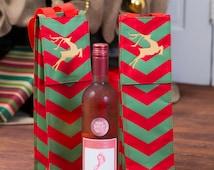 Wine Bottle Carrier, Wine bag, Wine gift, Christmas Office Gift, Wine tote, Insulated Wine Bag, Wine Bottle Cover, Wine Lover Gift