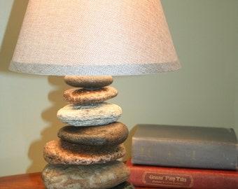 Granite Stacked Rock Lamp