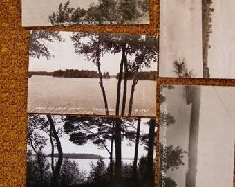 51% OFF Real Photo Postcard rppc Lot of 6 Northern Wi Wisconsin Chetek, Rib Lake, Rhinelander