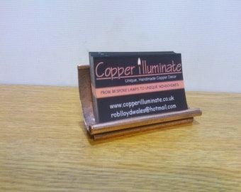 Business Card Holder #2, Wedding Place Card Holder, Hand Crafted Copper.